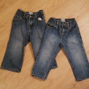 2 pairs of childrens place jeans